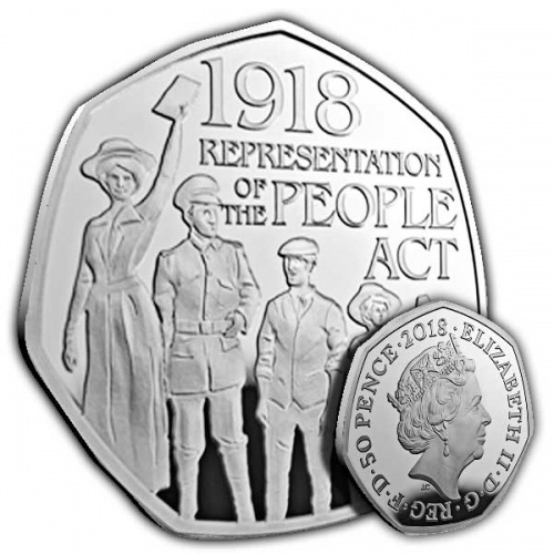 1918 Representation Of The People Act 2018 Uk 50p